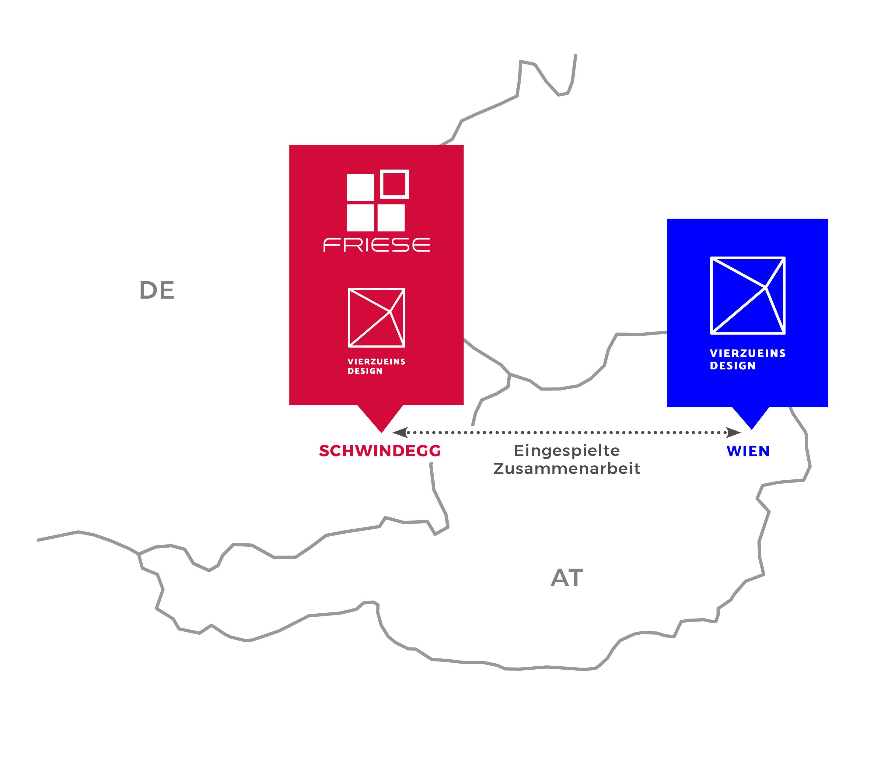 Vierzueins Design Kooperation Tischlerei Friese